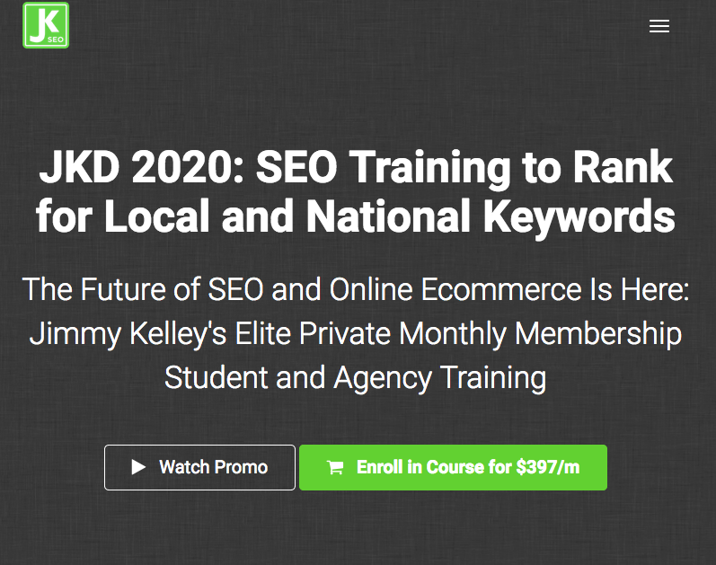Traning Only - 2020 SEO Training — JKD 2020 SEO Training to Rank for Local and National Keywords